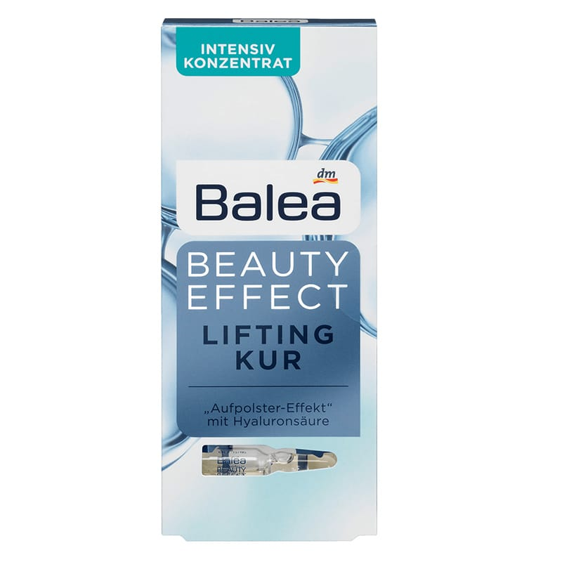 Balea Beauty Effect Lifting Kur Ampuller Med Hyaluronsyra