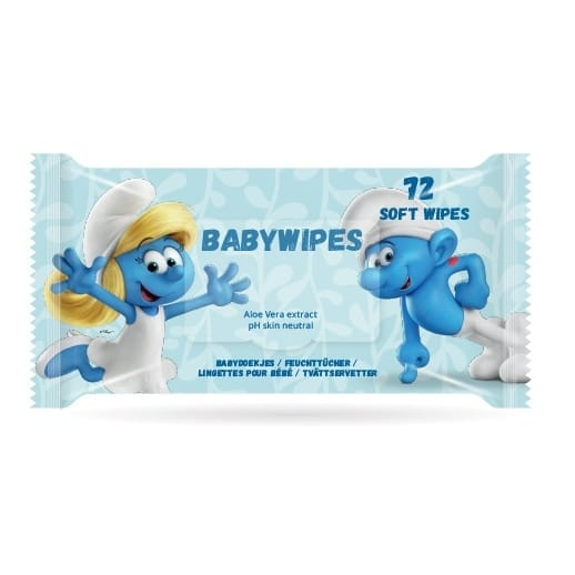 Smurfarna Baby Wipes Våtservetter 72-pack